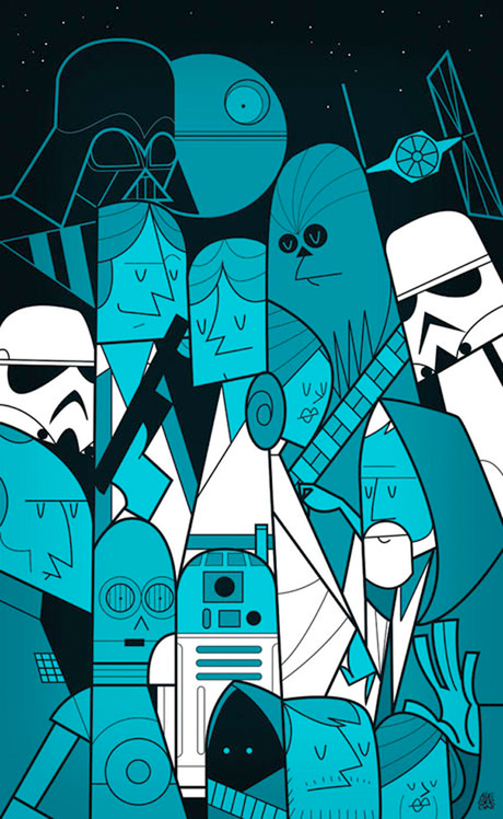 Ale giorgini ilustrador fan art starwars game of thrones the big bang theory series tvs regalos camisetas lord of rings popeye simpsons