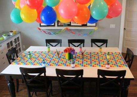 decorar un techo con globos