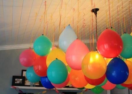 decoración rapida con globos