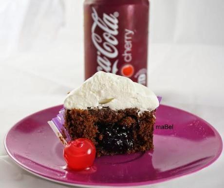 Cupcakes y frosting de Coca Cola