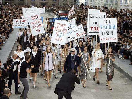 La protesta de Chanel, mensaje social o marketing?