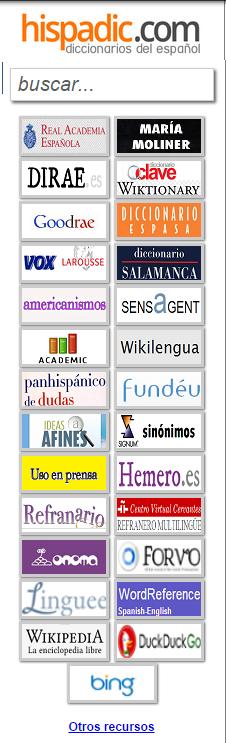 Hispadic. Diccionarios de habla hispana reunidos