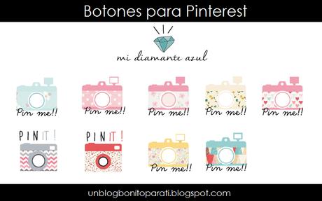 Freebies: Botones de Pinterest para el blog + tutorial