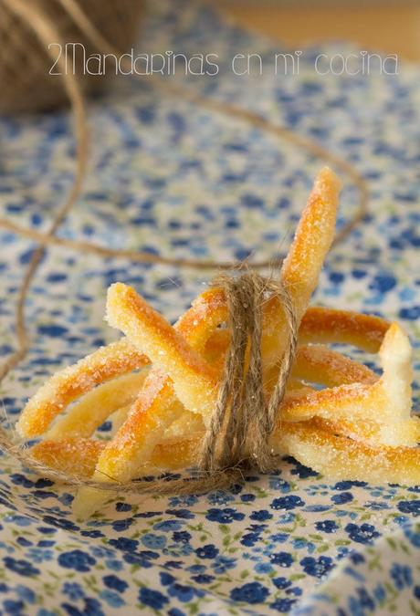Cómo preparar piel de naranja confitada con Thermomix