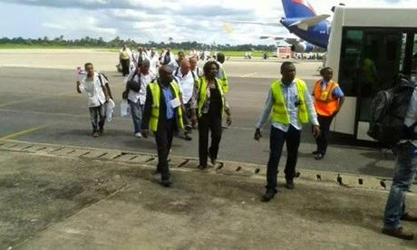 Ébola: Ya está en Sierra Leona brigada médica cubana [+ fotos y video]
