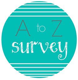 Book Tag: A to Z Bookish Survey