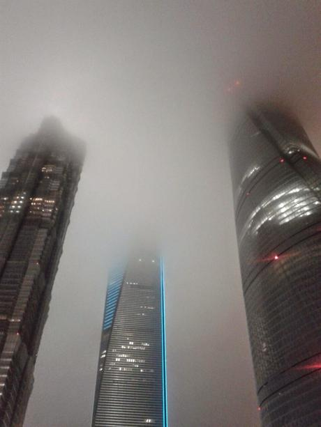 Torre Mao, Shanghai World Financial Center  y Torre Central de Shanghai