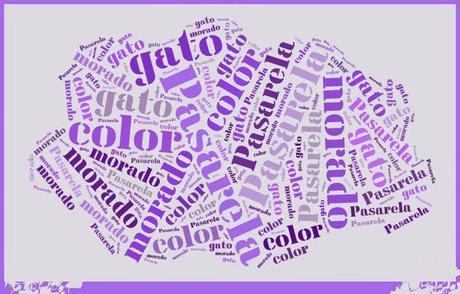 Pasarela de color: el gato morado