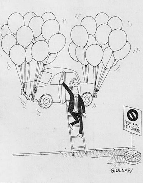 Estacionamiento en globo