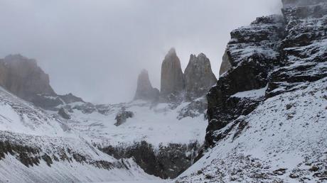 Torres del Paine desde el mirador base Torres