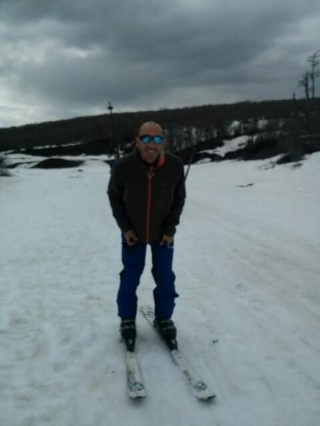 Esquiando en el volcán Villarica