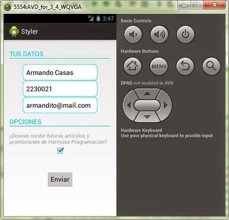 App con estilo personalizado