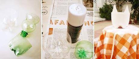 reciclar botellas de plastico maceta gatito002 Reciclar botellas de plástico en una bonita maceta gatito reciclar botellas de plástico reciclar reciclaje divertido meowceta macetero reciclado