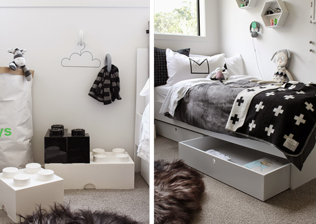 Un dormitorio infantil estilo n rdico en blanco y negro - Dormitorios estilo nordico ...