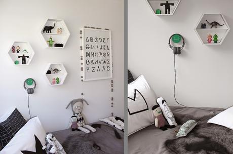 Un dormitorio infantil estilo n rdico en blanco y negro for Dormitorio estilo nordico infantil