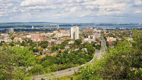 Vistas de Hamilton, ON, desde el Sam Lawrence Park