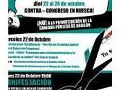 Contra congreso Huesca: privatización sanidad pública Aragón