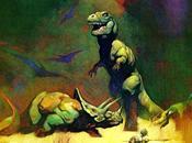 Fusilando piedad: Tyrannosaurus Triceratops after Frazetta