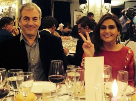 Marina Danko con Carlos Sobera