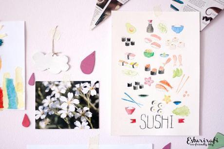 Acuarela sushi