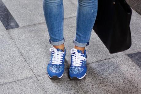 Blue Blazer + Sneakers
