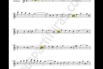 Blanca navidad partitura para saxof n alto y bar tono - Blanca navidad partitura ...