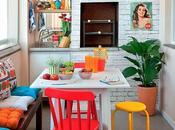 """Extra color para tomar cafecito media tarde:) Claves decorar cocina estilo ecléctico bajo precio"""""""