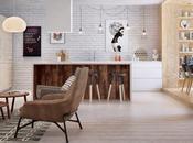 Visualización apartamento diseño nórdico.