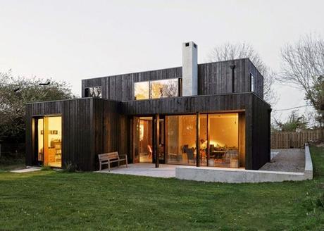 Casa moderna de madera paperblog for Casas de madera modernas