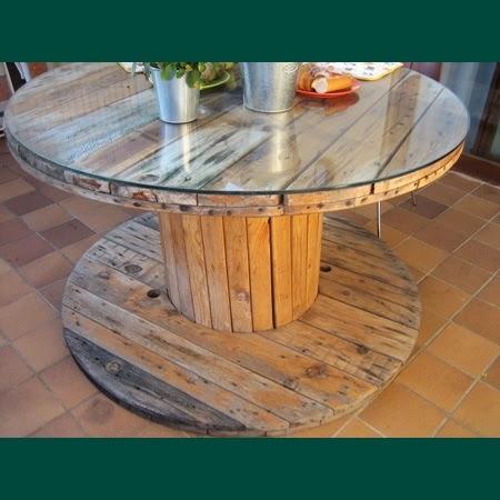 Portal de reciclaje bobinas de cable paperblog for Mesas hechas con tarimas de madera