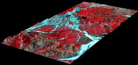 Perspectiva en 3-D del Monte Pinatubo