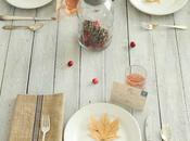 Mesa decorada para otoño -table decorated autumn