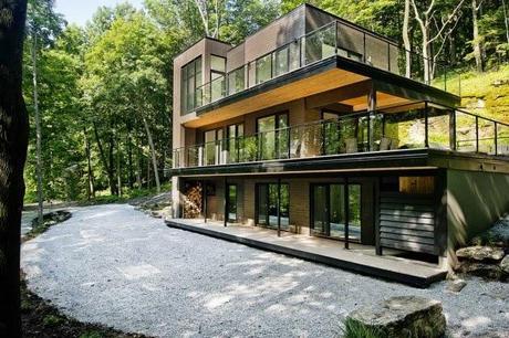 Casa moderna en los bosques de quebec modern style house for Casa moderna l