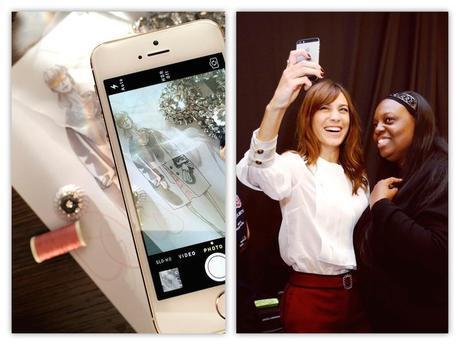 Burberry abandera el movimiento de integración de plataformas móviles y moda. Y el backstage ahora se vive de manera diferente, entre selfies como el de Alexa Chung y Patt McGraw y fotos que son subidas instantáneamente a las redes.