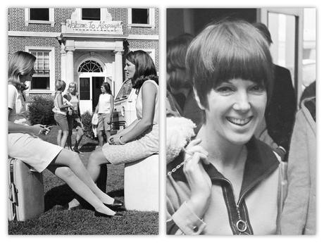 A la derecha, Mary Quant en 1966. A la izquierda, algunas primeras minifalderas del mundo.
