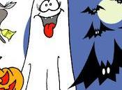 Halloween llama puerta.