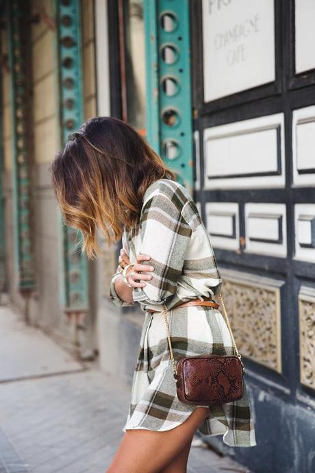 Plaid_Dress-Snake_Bag-Isabel_Marant_Boots-Outfit-Street_Style-1