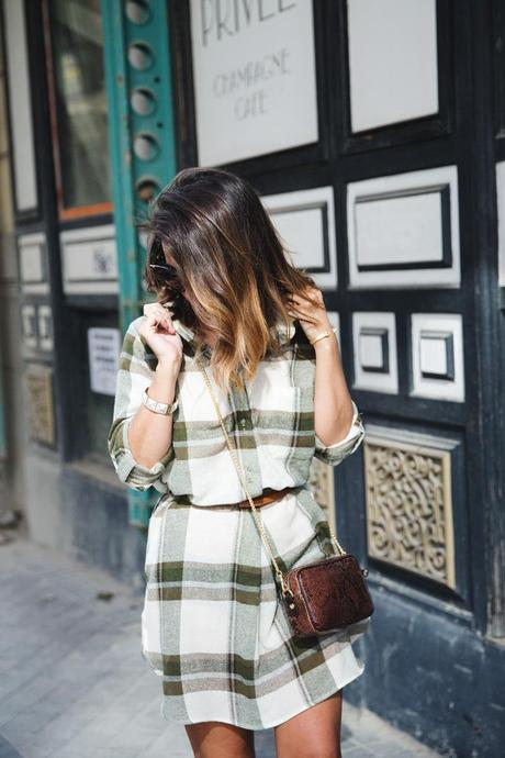 Plaid_Dress-Snake_Bag-Isabel_Marant_Boots-Outfit-Street_Style-11
