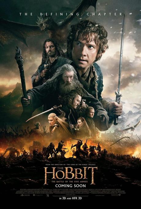 Cartel final de El Hobbit: La batalla de los cinco ejércitos.