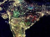 falsa foto India vista desde Espacio durante Diwali
