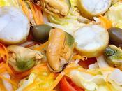 Ensalada mejillones huevas choco