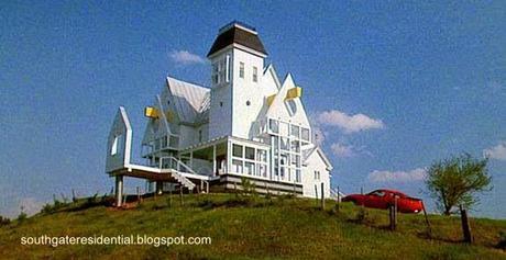 Casa convertida en posmoderna en Estados Unidos