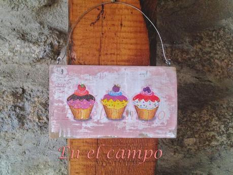 Cartel de adorno para la cocina cupcakes paperblog - Carteles de cocina ...