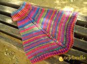 Poncho arcoiris fácil sencillo
