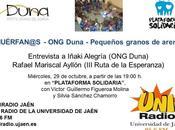 Entrevista programa Plataforma Solidaria Radio Jaén