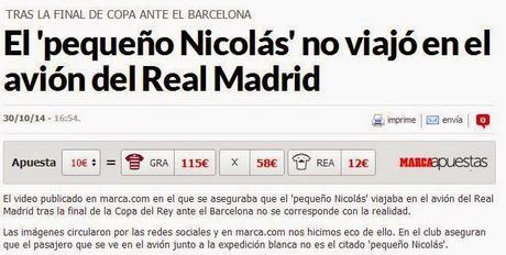 Otra vez se la cuelan a Marca (Pequeño Nicolás y Real Madrid)