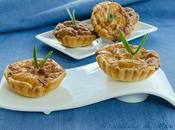 Tartaletas jamón serrano champiñones
