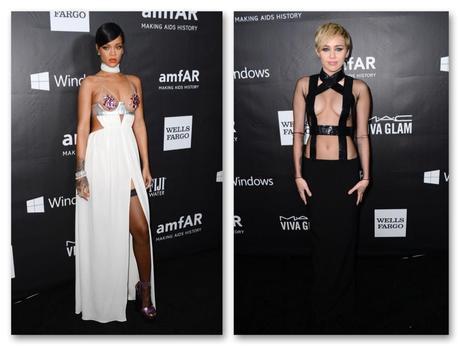 Rihanna y Miley Cirus, poco dadas al minimalismo, ambas de sexy extremo y de Tom Ford. ¿Entre los mejores o peores looks de la semana? ¿Qué opináis?