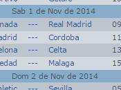 Calendario Liga BBVA Fecha 2014-2015