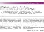 Patología dual trastornos ansiedad Sáiz col.